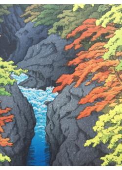 Hasui kawase shin hanga Les gorges d'Azuma