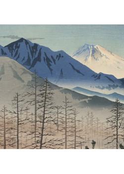 Le mont Fuji vu de la station Shinshu Kiyosato