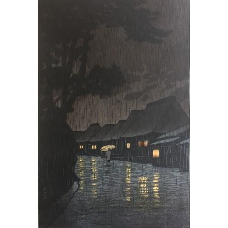 Takahashi Shotei - Nuit de pèche à Tsukuda